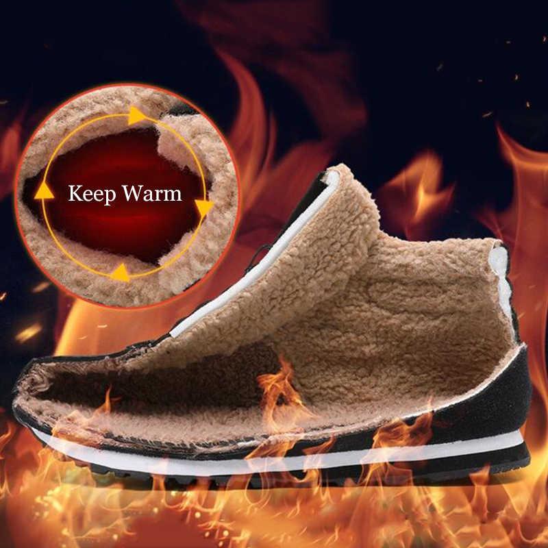 LAKESHI Runde Kappe Frauen Boot Warm Plüsch Winter Schnee Stiefel Frauen Schuhe Schwarz Spitze-Up Weibliche Stiefeletten Mode casual Stiefel