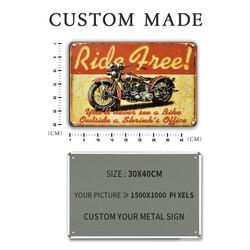 Plaque décorative en métal de grande taille personnalisée, Plaque décorative Vintage pour Garage maison, nom, autocollant mural pour Bar Tiki