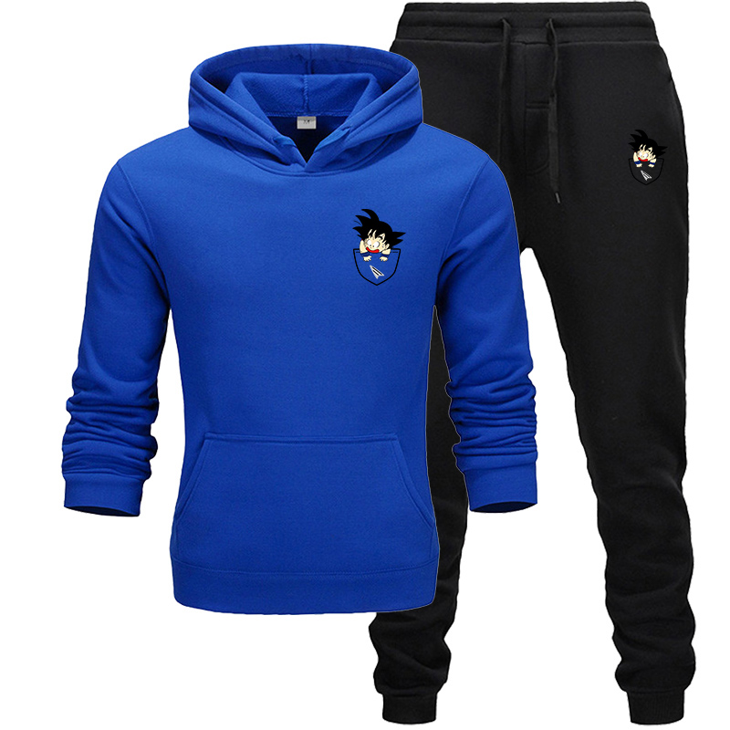 New Men Sportswear Hoodies Pants Set Spring Track Suit Clothes Casual Tracksuit Men Sweatshirts Coats Male Joggers Street