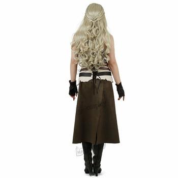 Daenerys Costume Brown Cosplay Halloween 4