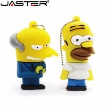 Pen-Drive Memory-Stick U-Disk JASTER Simpson Homer 8GB 4GB 32GB 64GB Mouse-Wolf Bart