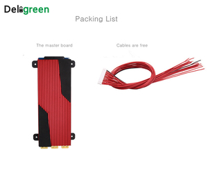 Image 4 - Deligreen 14S 80A 100A 120A 150A 200A 250A 48V PCM/PCB/BMS für 3,7 V LiNCM batterie pack 18650 Lithion Ionen Batterie mit balance