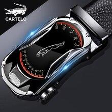 CARTELO Leather Belts for Men 3.5cm Width Sports car Brand F