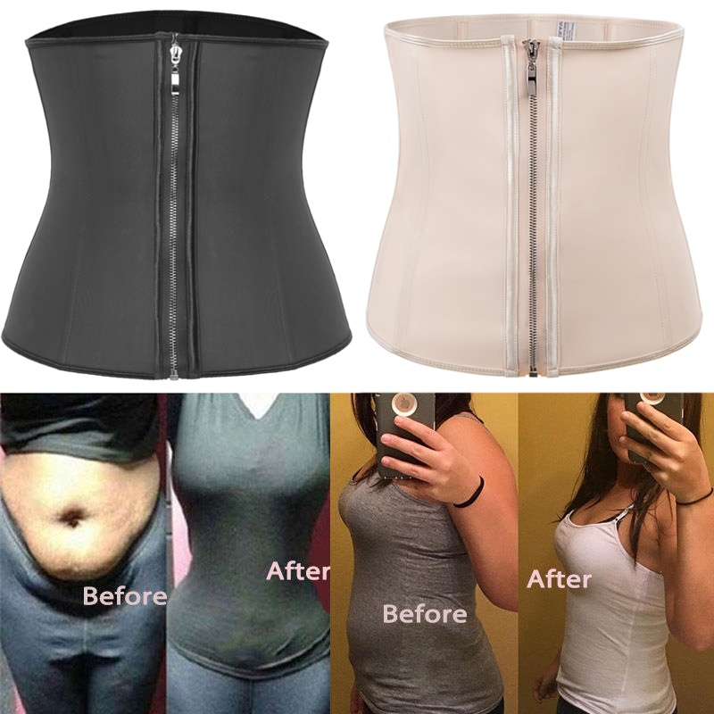 Image 4 - Waist Trainer Woman Slimming Sheath Weight Loss Shapewear Body Shaper Tummy Reducing Girdles Belly Shapers Modeling Belt CorsetWaist Cinchers   -
