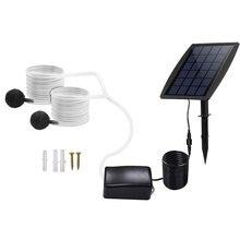 Комплект воздушного насоса на солнечной батарее, наземный водяной воздушный насос, Оксигенатор, солнечный аэратор с кислородными шлангами ...