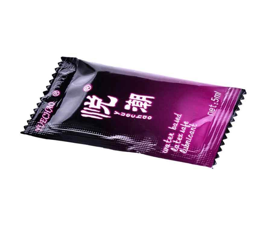 5 adet/grup 5ML küçük çanta seks yağlayıcı su bazlı Anal pürüzsüz yağ seks ürünleri cinsel yaşam masajı