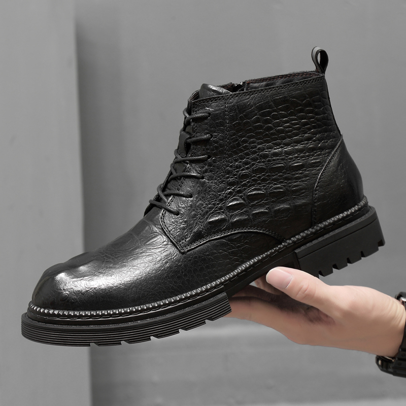 Classic Brand Men's Boots Handmade Men Ankle Boots Outdoor Waterproof Male Basic Shoes Autumn Winter Lace-UP Man Moccasins