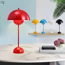 Denmark Flower Pot Table Lamp Led Macaroon Colorful  Modern Fashion Simple Individual Living Room Bedroom Study Desk Design