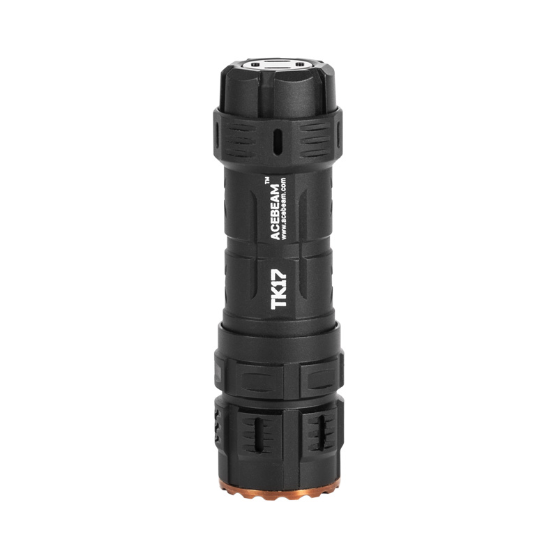 La torche EDC compacte AceBeam TK17 AL, lampe de poche de poche comprend 1x18350 IMR18350 avec Port USB intégré