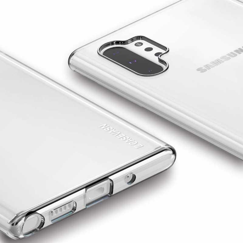 Kẹo Màu Đen Xanh Đỏ Trong Suốt Silicone Trong Suốt TPU Cho Samsung Galaxy Note 10 Plus 9 8 5 Slim phù Hợp Với Da