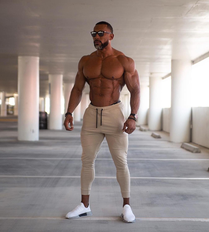 2019 Autumn New Men Fitness Sweatpants Male Gyms Bodybuilding Workout Cotton Trousers Casual Joggers Sportswear Pencil Pants