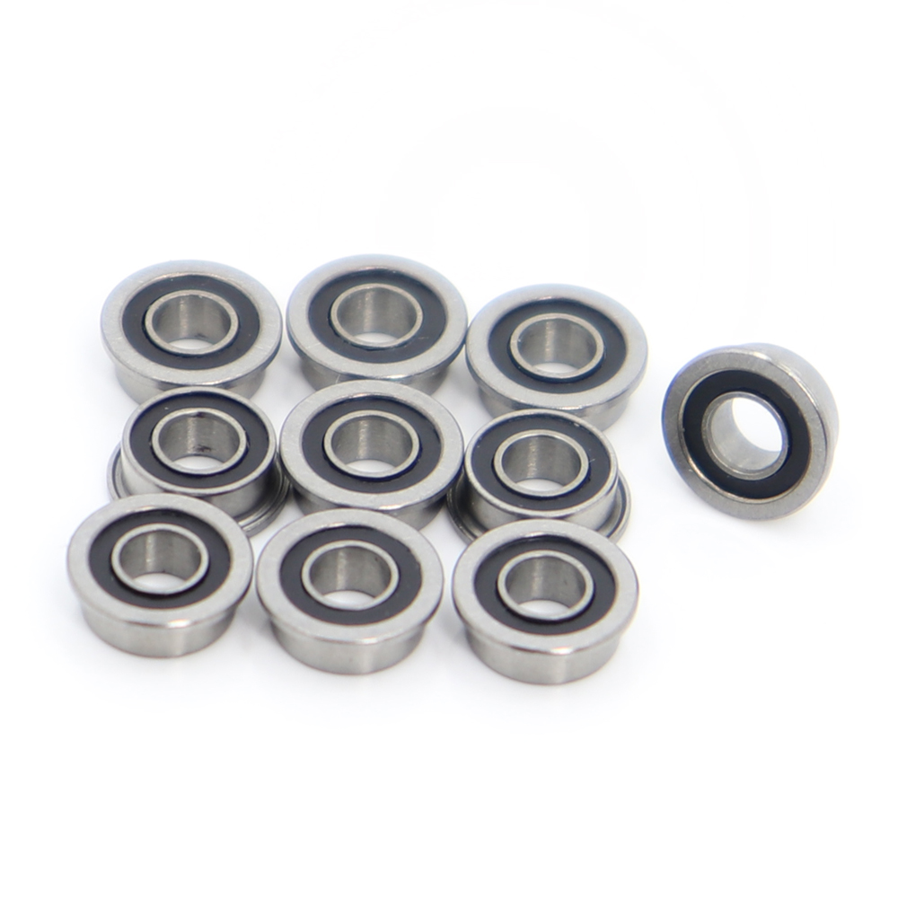 MF63-2RS <font><b>Bearing</b></font> <font><b>3x6x2.5mm</b></font> ( 10 PCS ) ABEC-1 Miniature Flanged MF63RS Ball <font><b>Bearings</b></font> LF-630DD image