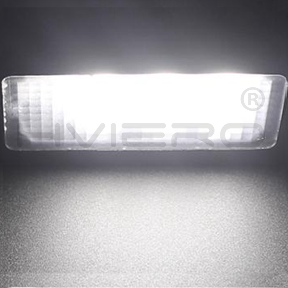 Купить с кэшбэком 2pcs LED License Number Plate Light Lamp 6W 12V 24 LED White Light fit for Ford Focus 2 C-Max