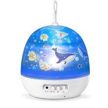 Children Gift Stars Projection Usb Battery Abs Portable Colorful Revolving Dream Night Lamp Projection Lamp(China)