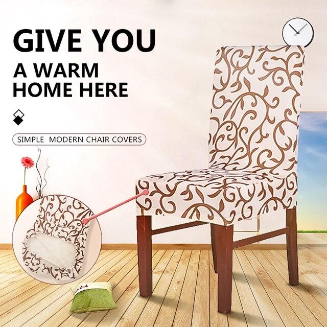 Floral Design Elastic Chair Slipcover 1