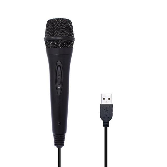 USB kablolu 3 m/9.8ft mikrofon yüksek performanslı için MIC anahtarı PS4 Wii U PC taşınabilir ses ve Video ekipmanları