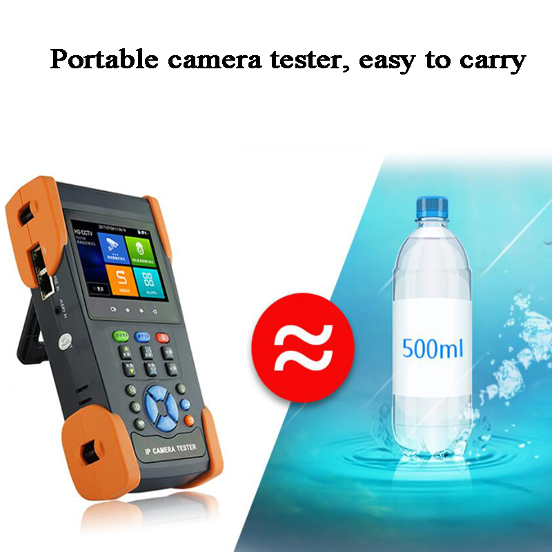 3.5 Inch IPS IP Camera Tester H.265 H.264 4K Video Display CVBS IPC Test POE WIFI RJ45 Cable TDR Test Rapid ONVIF Network Tool