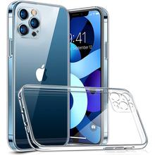 Obiektyw pełna ochrona etui na telefon iPhone 11 12 Pro Max XR przezroczysty futerał silikonowy na iPhone X Xs Max 7 8 Plus 12 Mini tylna okładka tanie tanio CN (pochodzenie) Pół-owinięte Przypadku Lens Protection Phone Case Apple iphone ów Iphone 4 IPHONE 4S Iphone 5 Iphone 6