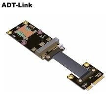Przedłużacz mPCIe do PCIe x1, przedłużacz adt link mini PCI e (mini card) przedłużacz mPCIe mSATA przedłużacz z adapterem
