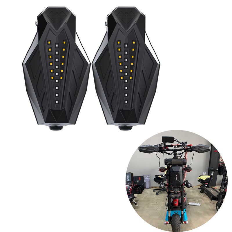 Couverture de protection de main de moto avec l'intense luminosité de clignotant LED