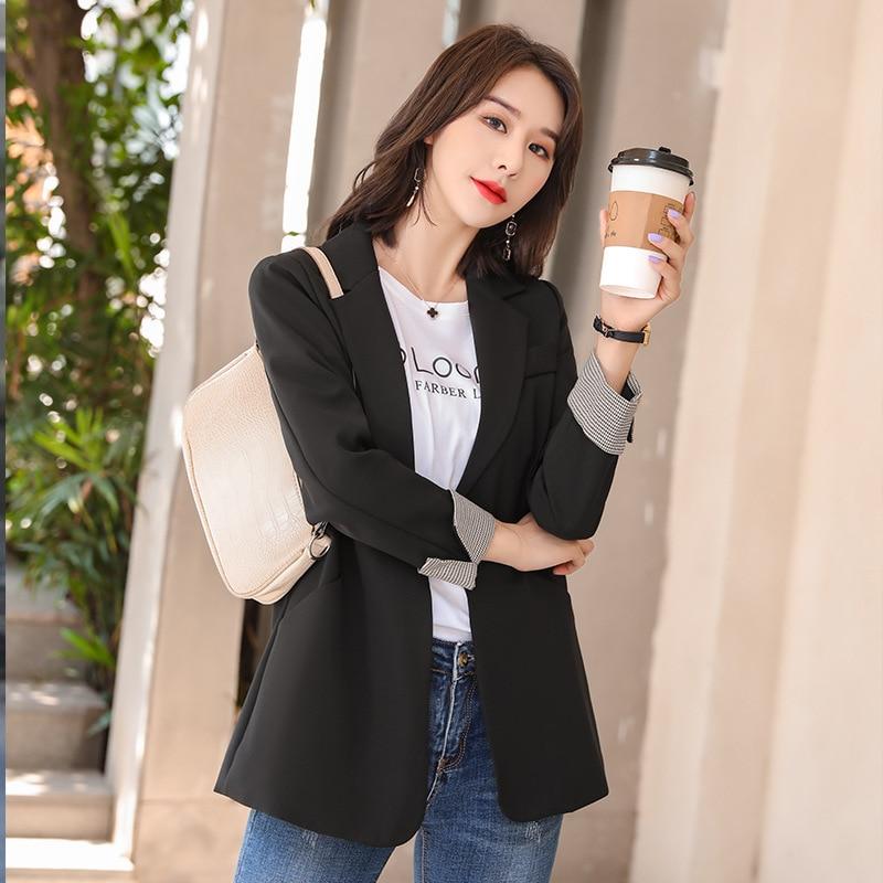 Fashion professional women's office suit jacket high quality 2020 Autumn temperament loose ladies blazer Elegant jacket feminine
