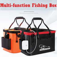 Sac de seau de pêche Portable EVA seau de pêche pliable boîte de poisson en direct seau pompe à oxygène sacs de rangement de matériel de pêche en plein air