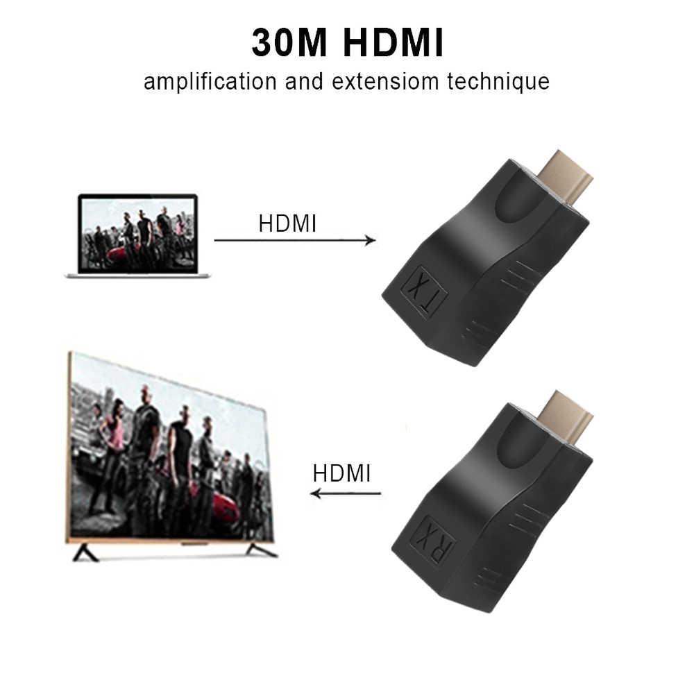 Kebidu 4K HDMI 1,4 extensor de Video transmisor TX/RX HD 1080P sobre CAT6 RJ45 Cable de Ethernet para el proyector de la TV DVD Monitor PC