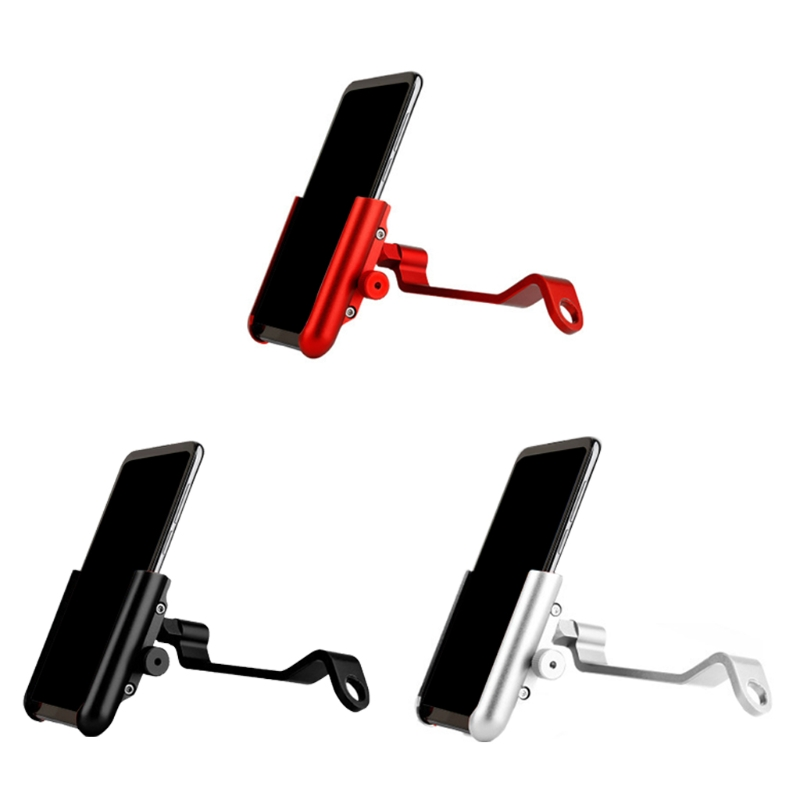 Motorcycle Phone Holder Universal 360 Rotatable Aluminum Motorcycle Side Mirror Bike Bicycle CellPhone Holder Mount