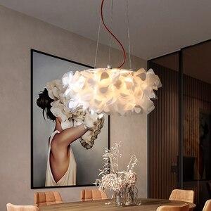 Декоративный подвесной светильник в виде цветка, современный светодиодный подвесной светильник для столовой, Домашний Светильник для спал...