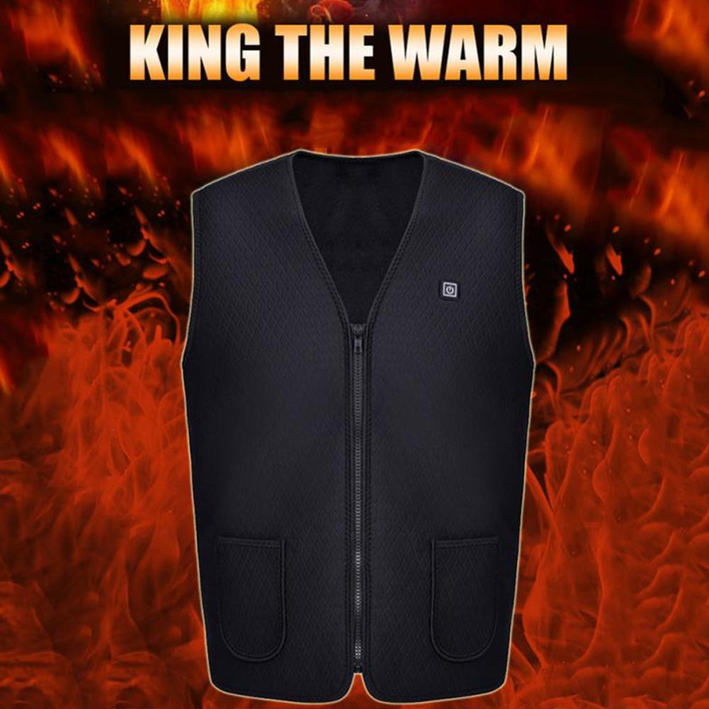 Men Women Outdoor heated vest USB Infrared heated jacket Winter Electric Thermal Heating Vest Camping and hiking clothing 열선조끼