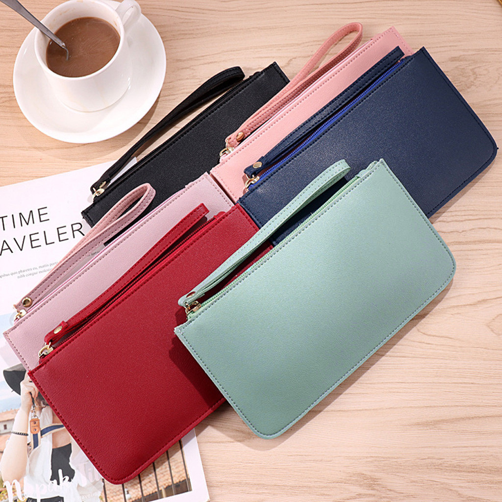 2019 New Ladies Fashion Wallet Long Fashion Contrast Color Large Capacity Coin Purse Card Bag Hand Wallet