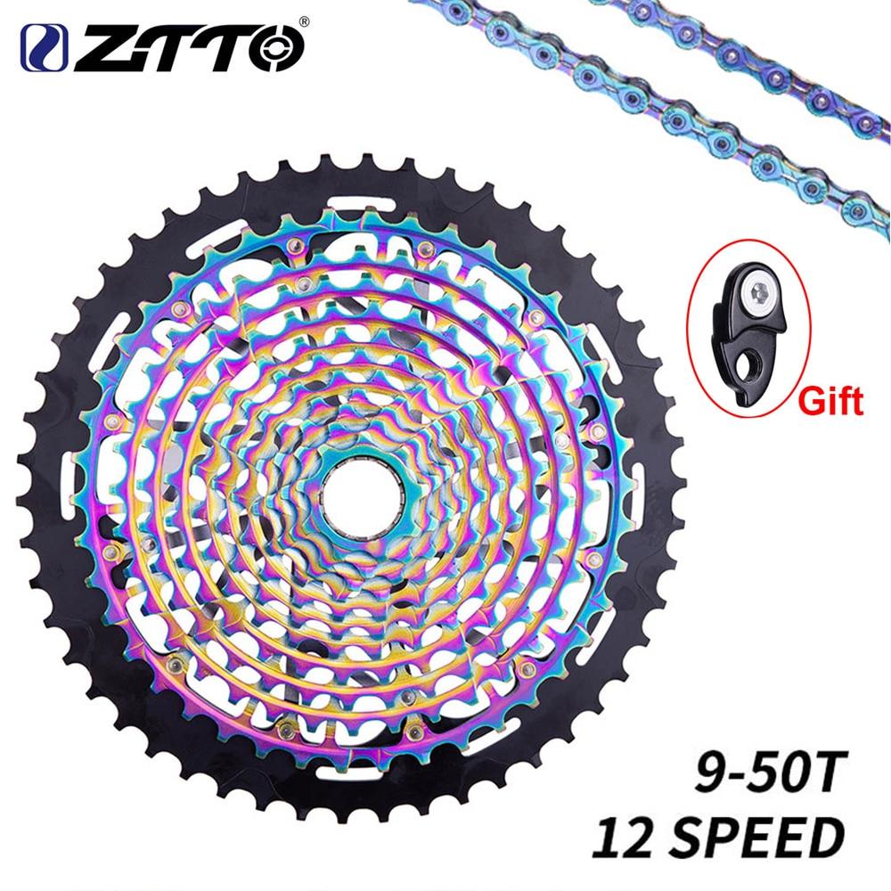 ZTTO 12 12 S MTB Bicicleta Roda Livre Velocidade 9-Íris 50T Bicicleta Cassete ull aço 9T 12 S xixi Mountain Bike Roda Dentada Roda Livre