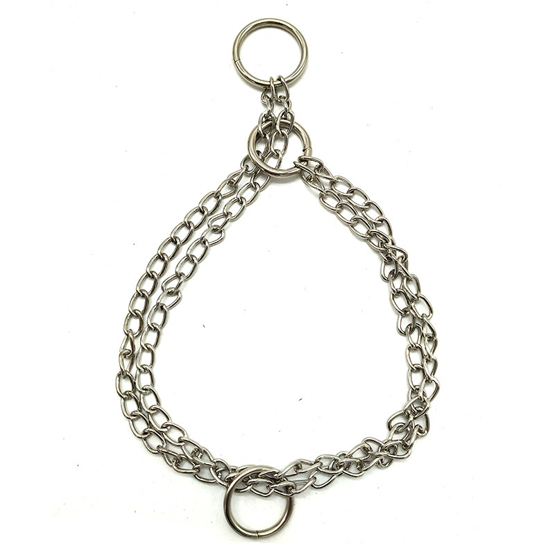 40 Cm Double Row Chain Dog Necklace Metal P Pendant Snake Chain Pet ChYer Small Medium-sized Dog Usable Necklace Ornament