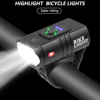 T6 LED światło rowerów 10W 800LM 6 trybów USB akumulator wyświetlacz mocy MTB do roweru szosowego i górskiego światło przednie sprzęt kolarski tanie i dobre opinie CN (pochodzenie) Inne