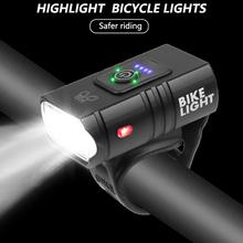 T6 LED światło rowerów 10W 800LM 6 trybów USB akumulator wyświetlacz mocy MTB do roweru szosowego i górskiego światło przednie sprzęt kolarski tanie tanio CN (pochodzenie) Inne
