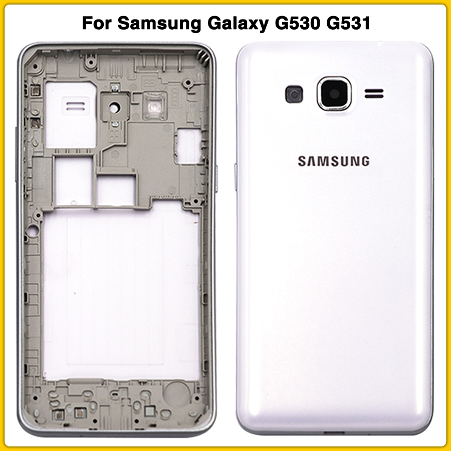 New G531 Full Housing Case For Samsung Galaxy Grand Prime G530 G530H G531H G531F Battery Back Cover Door + Middle Frame Bezel
