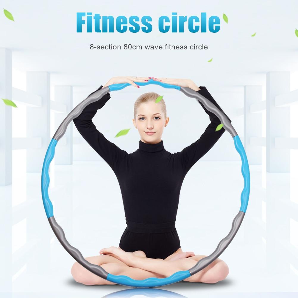 Съемная 8 раздел спорта обруч Йога дома Фитнес смарт-обручи круг тонкие утягивающие Кольцо Живота Тренажер обруч