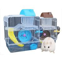Hamster Cage Hamster Cage Double-decker Luxury Villa Hamster Supplies Toy Hamster Nest Crystal Small Castle Cage