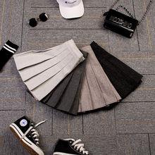2020 женская новая осенняя и зимняя юбка в стиле колледжа черная