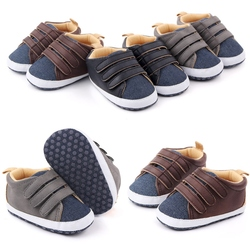 Baby Boys Girls Breathable Anti-Slip Shoes Soft Sole Baby Shoes Autumn Sneakers Toddler Soft Soled Patchwork Color Walking Shoe