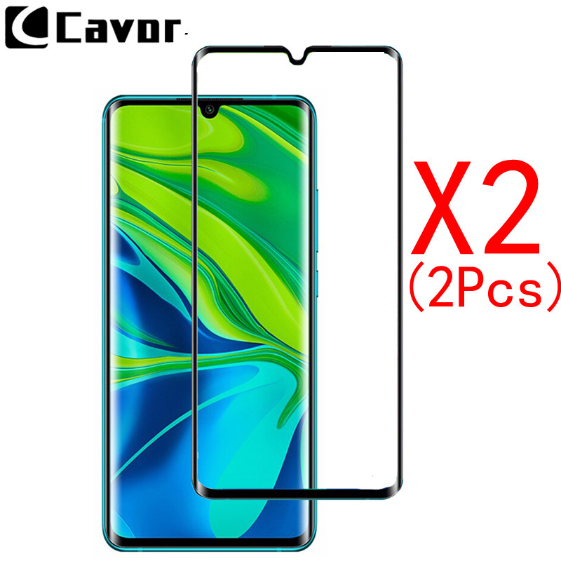 2Pcs 9H Tempered Glass For Xiaomi Mi CC9 Pro Case Full Cover Glass Mobile Phone Accessories Screen Protector Film For Mi Note 10