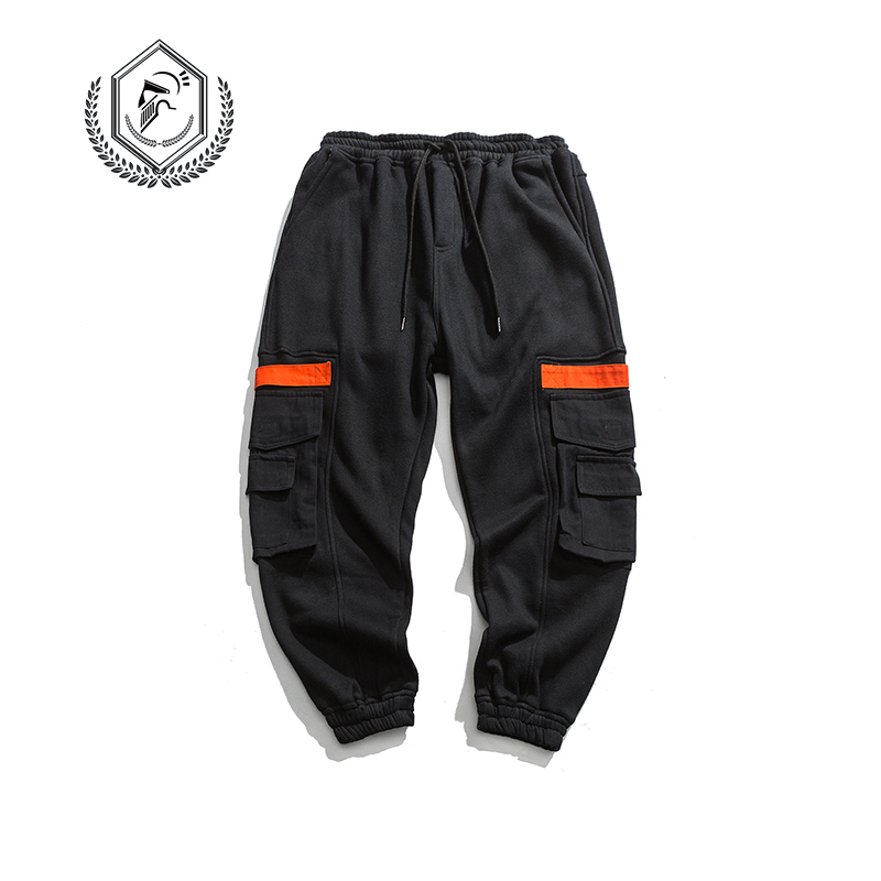 Men Fashion Loose Solid Safari Style Fleece Heavyweight Harem Jogger Pants Casual Ankle-Length Hip Hop Pants