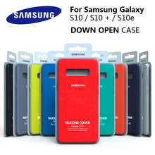 S10 caso original samsung galaxy s10 plus s10e silicone sedoso capa de alta qualidade macio-toque de volta protetora galaxy s10 + s10 e