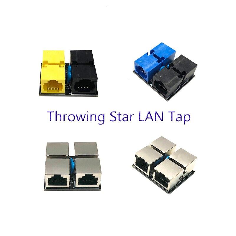 Rj45 Passive Mini Ethernet Tap Network Packet Capture Mod Replica Monitoring Ethernet Communication Throwing Star LAN Tap
