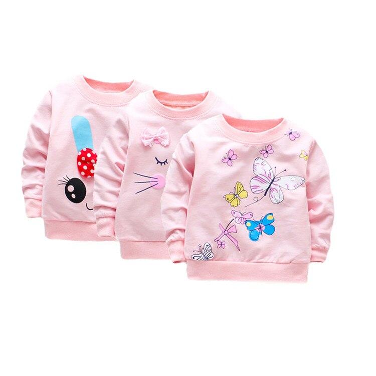 de manga longa bebê meninas topos algodão