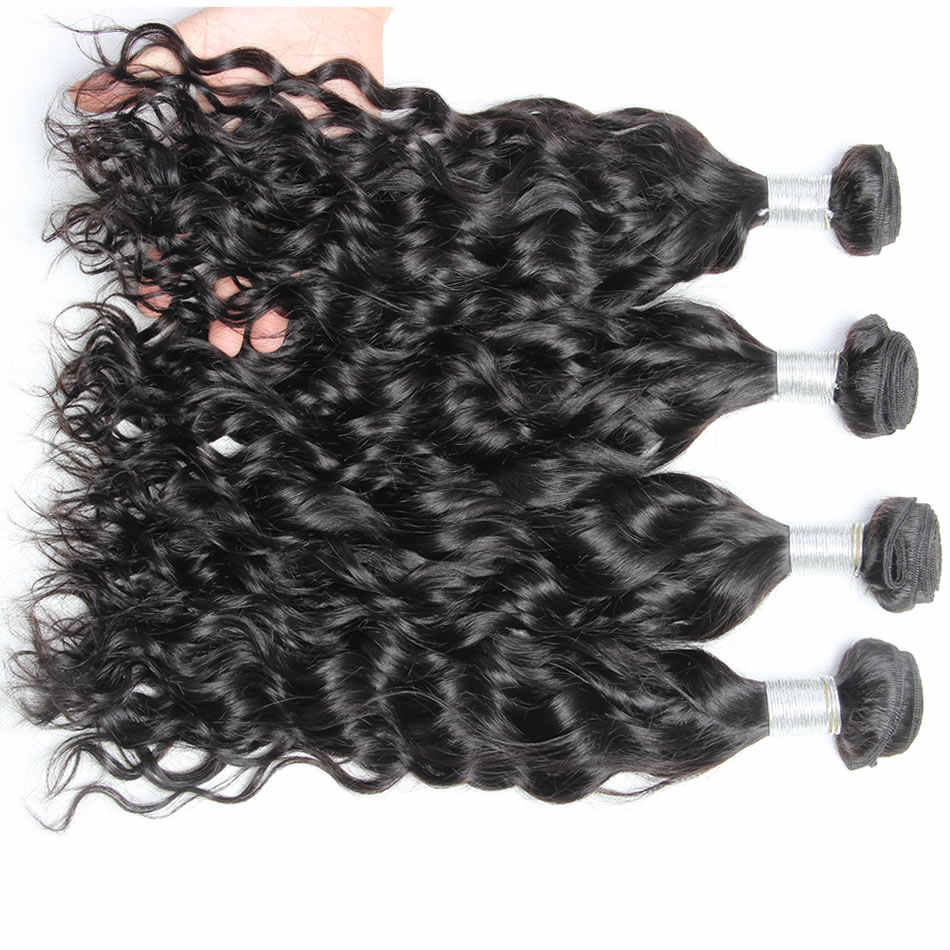 Mi Lisa Brazilian Water Wave 3 Bundles Deal 100% Human Hair Weave Bundle Remy Natural Brazilian Hair Water Wave Hair Extensions