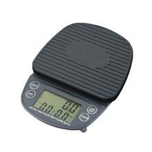 Кухонные весы, цифровые капельные кофейные весы, таймер, кухонный измерительный инструмент для взвешивания пищевых продуктов, электронные кухонные весы 2000 г/0,1 г