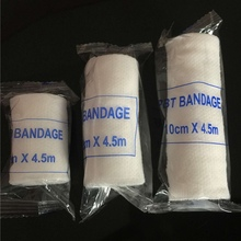 1 Roll Elastic Crepe Wound Dressing Bandages For Home Work Outdoor Sports Sprain Treatment Emergency First Aid Kits Accessories