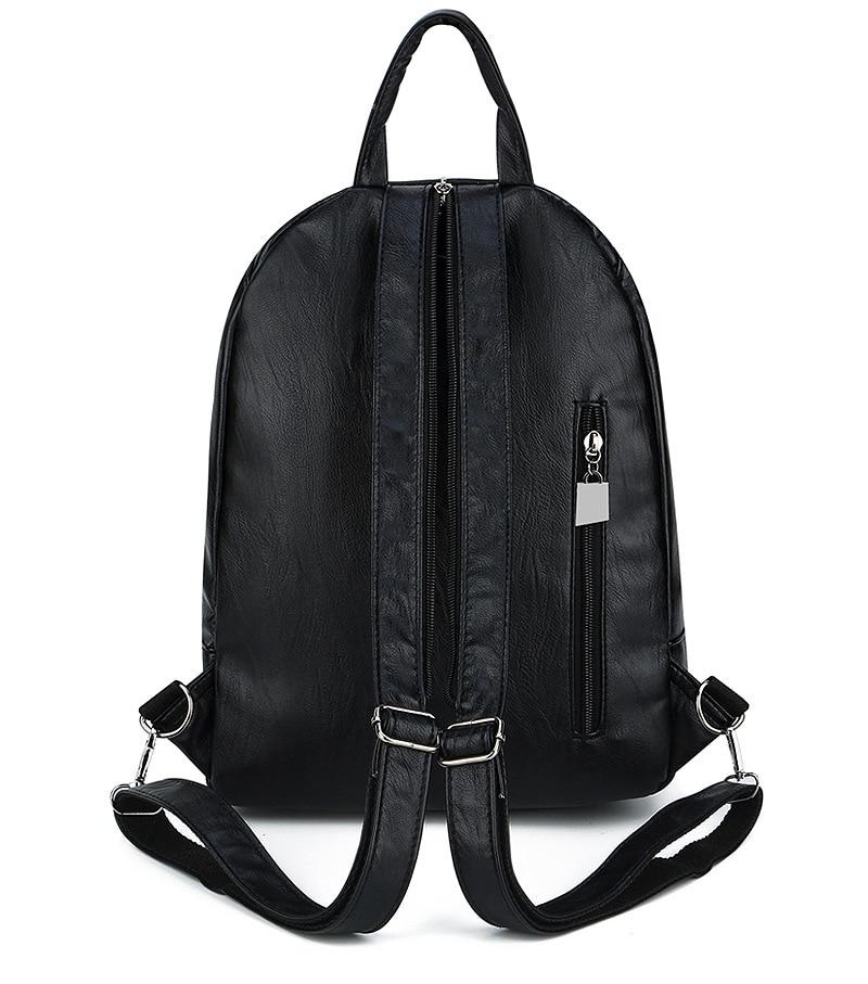 Women's Vintage Leather Backpack 6