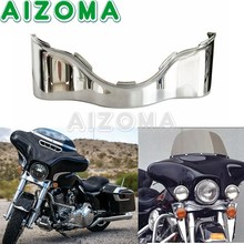 Chrome Motorcycle Batwing Lower Trim Skirt Outer Fairing ABS Plastic For Harley Electra Street Glide 2014 2020 Motorcycle Parts